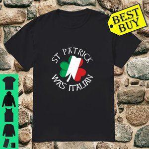Vintage Stpatrick Was Italian Shamrock Italy Flag